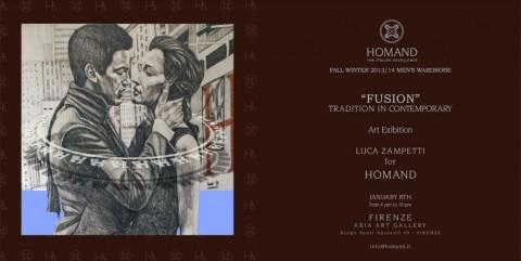 """""""Fusion - Tradition in Contemporary"""", Evento collaterale di Pitti Uomo 2013, Aria Art Gallery, Firenze"""